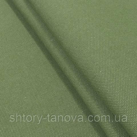 Декоративна тканина, льон, однотонна зелений