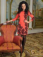 Платье с элементами декора - 976