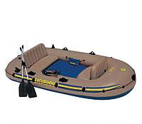 Лодка с набором 68324, Надувная лодка 315*165*43см, Резиновая лодка с насосом и веслами алюминиевыми
