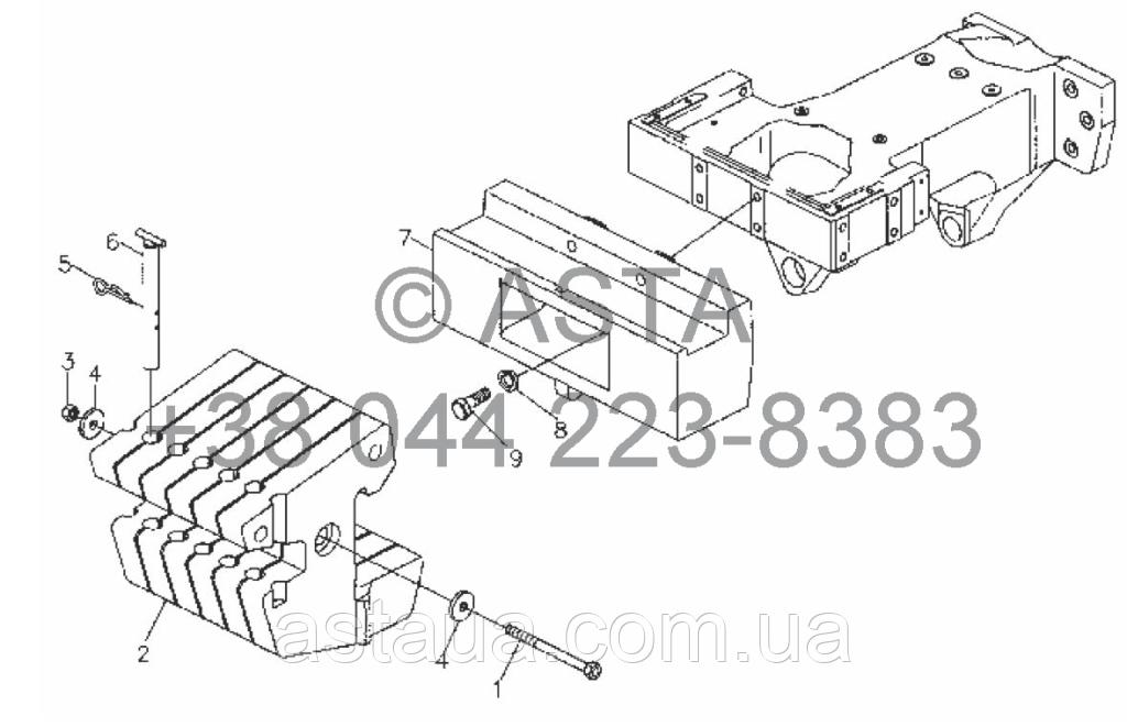 Передний балласт на YTO X854