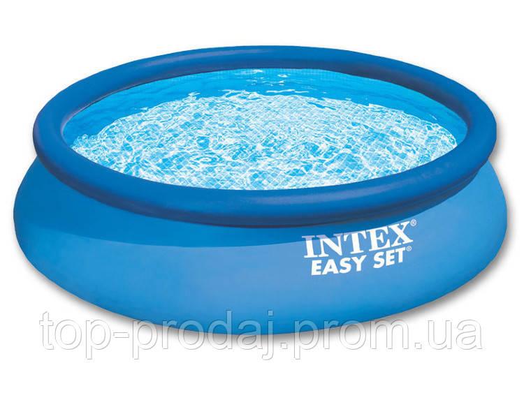 28130 Бассейн Intex  366*76см, Наливной семейный бассейн, Надувной бассейн интекс