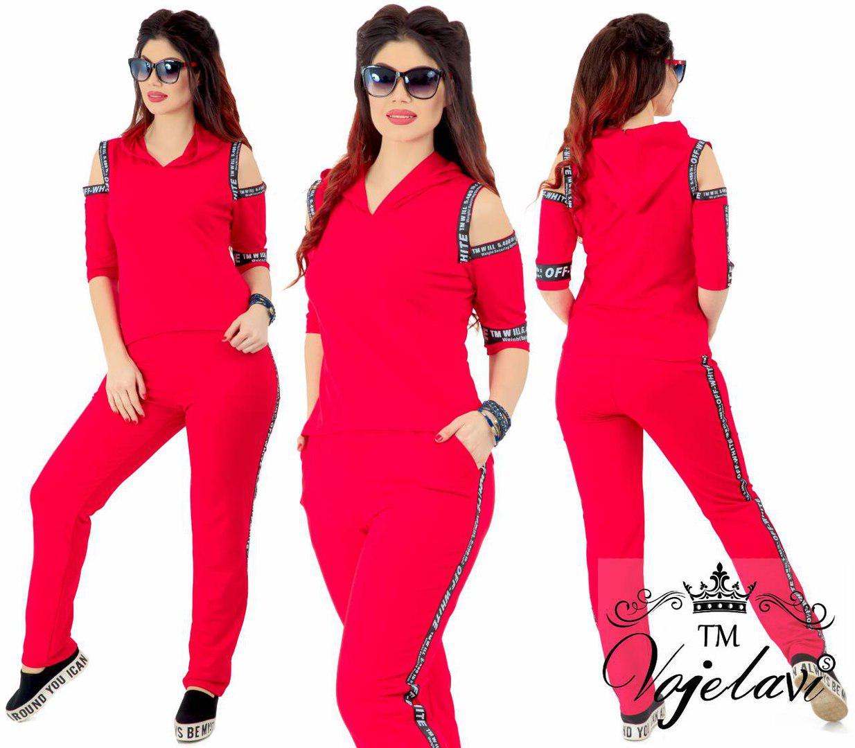 0db59852d34ac Спортивный красный костюм на женщин т.м. Vojelavi A133G оптом и в ...