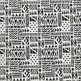 Декоративная ткань для штор, геометрия, чёрно-белый, фото 2