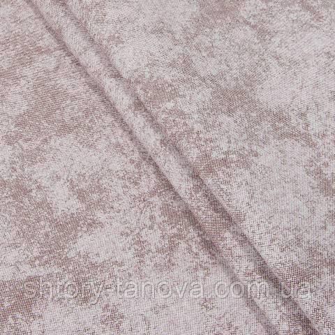Декоративна тканина для штор, плями бордо-молочний
