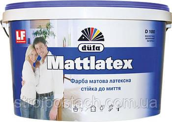 Краска матовая латексная DUFA D100 внутренняя латексная, 7 кг (5 л )А