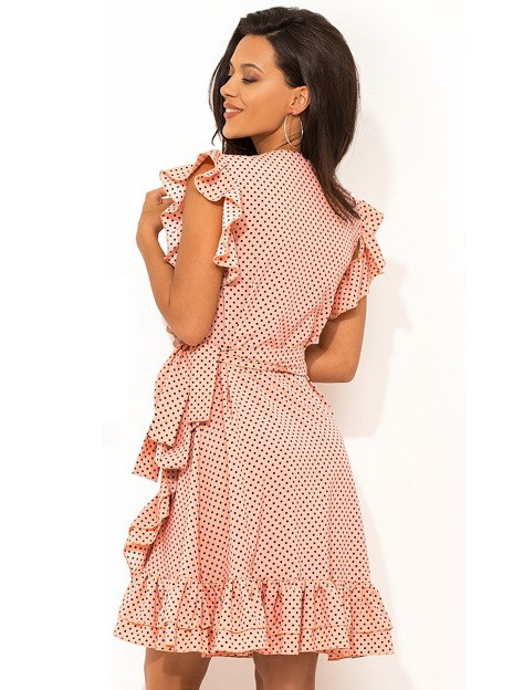 7e5323804ba Летнее платье на запах с рюшей Д-1407  продажа