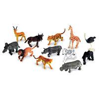 """Набор реалистичных животных """"Дикие джунгли""""  Jungle Animal Counters Learning Resources/Ленинг р 12 шт LER 0697"""
