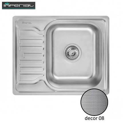 Кухонная мойка Imperial из нержавеющей стали 5848 decor 08mm, фото 2