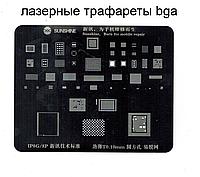 Трафарет BGA Iphone 8/8Plus Sunshine лазерная гравировка