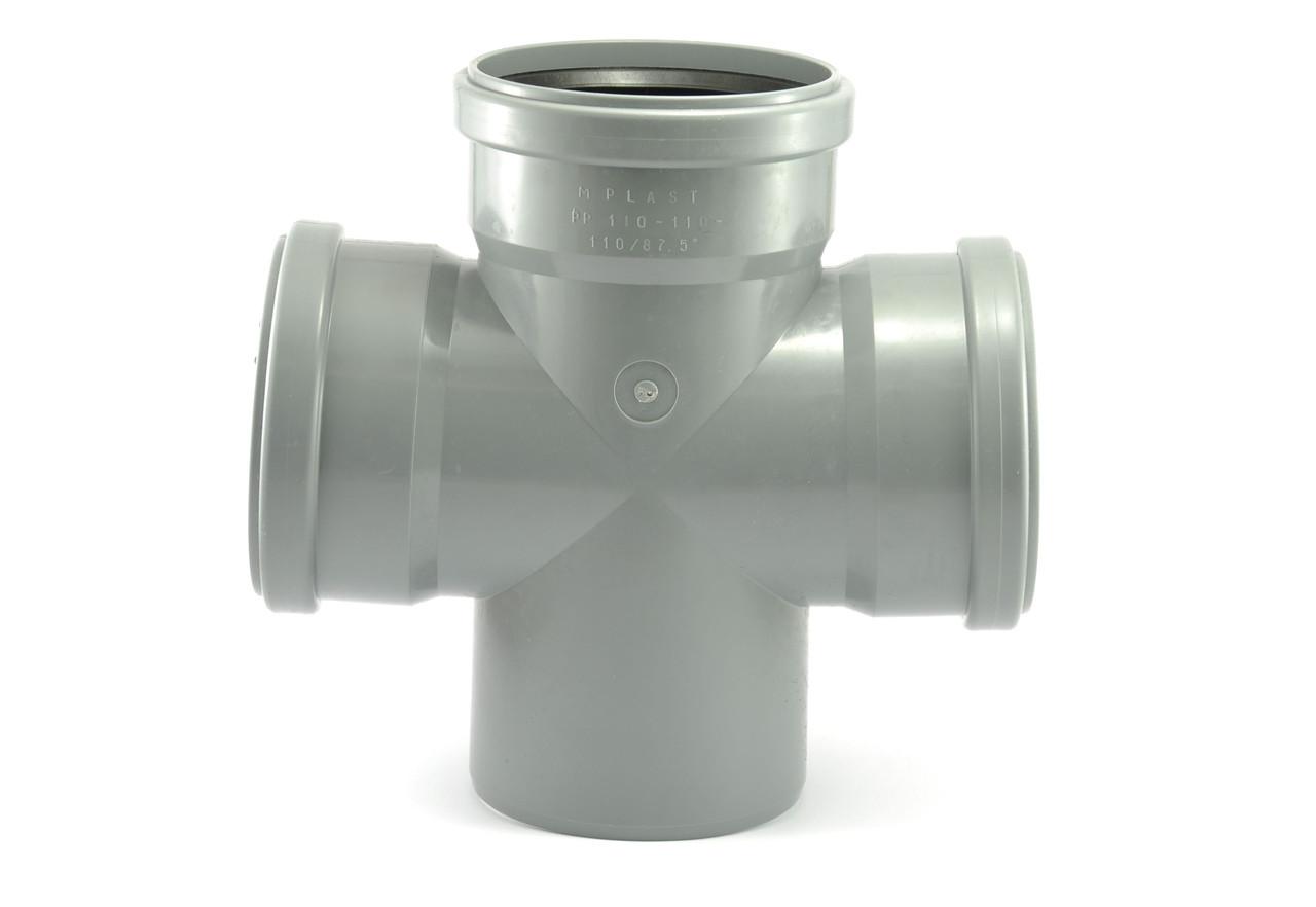 Крестовина канализационная 110х110х110 90* внутренняя канализация