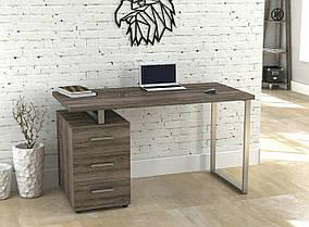 Письменный стол L-27 MAX металл Серебристый ДСП Дуб Палена (Loft Design TM)