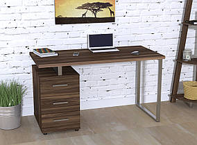 Письменный стол L-27 MAX металл Серебристый ДСП Орех Модена (Loft Design TM)