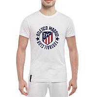 Футболка с принтом Атлетико Мадрид (белая)
