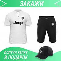 Костюм мужской с принтом Ливерпуля (футболка + шорты) + бейсболка в подарок