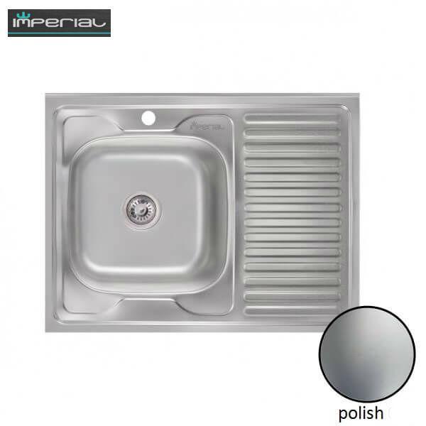 Кухонная мойка Imperial из нержавеющей стали 5080-L polish 08mm