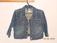 Джинсова курточка на рост 98-104, фото 1