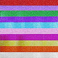 Бумага A-4, Фоамиран-ПАРЧА 2921B cамоклейка, 20*30 см, 2 мм, 10 цветов, фото 1