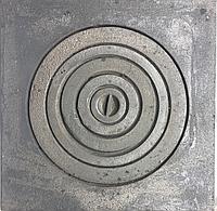 Плита чугунная печная с кольцами 550х550 под казан