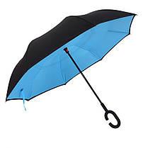 Зонт обратного сложения Rainscence Антиветер №9 Черно-голубой (09ZR201809)