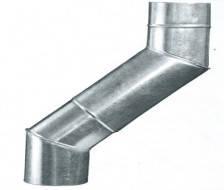 Колено (угол) водосточное металлическое оцинкованное Ø110 мм (45°, 60°, 90°)