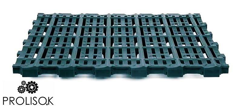 Пластиковые полы для свиноматок 400 x 100 mm (до 350 kg/m²)