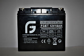 Акумулятор 12V 18Ah FGET, 181х167х70