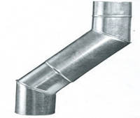 Коліно (кут) водостічне металеве оцинковане Ø 220 мм (45°, 60°, 90°)