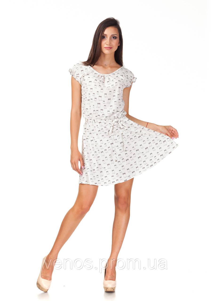 Летнее женское платья рукава фонарики. П065