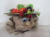 Домовой с фруктами на шляпе, 180/220 (цена за 1 шт. + 40 гр.), фото 1