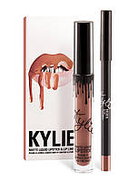 Матовый блеск Kylie + мягкий карандаш для губ Dolce k, фото 1