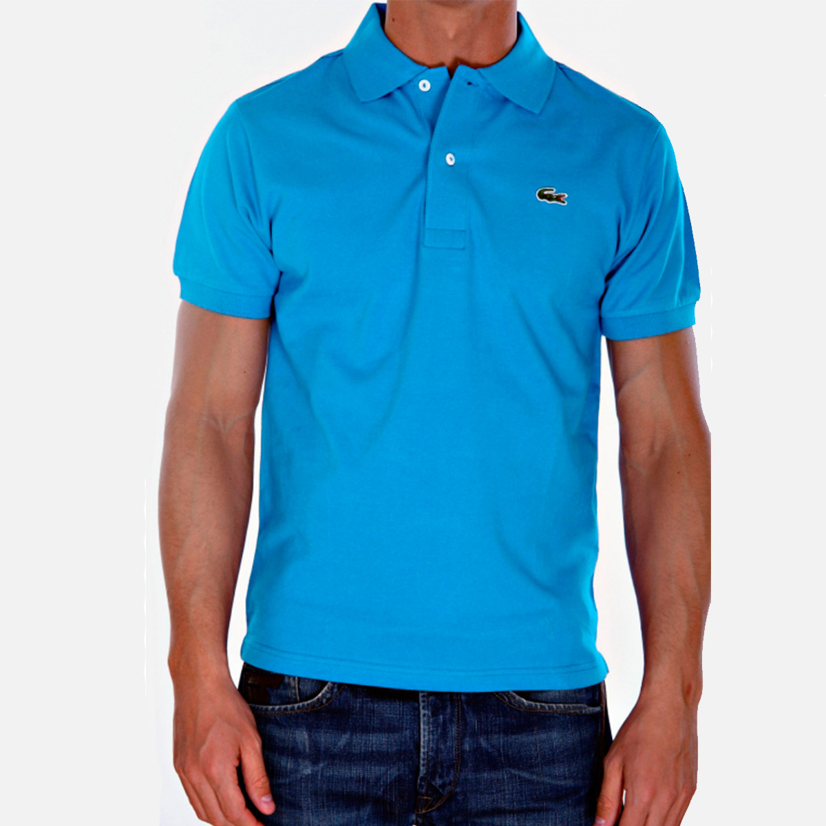 fa1b0a50fddf Мужская футболка поло Lacoste голубая