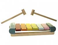 """Развивающая детская деревянная музыкальная игрушка """"Ксилофон"""" LKS-2 (14033) ТМ Cubika / Royaltoys"""