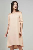 Красивое женское летнее платье жаккард ZANNA BREND с открытыми плечиками, фото 1