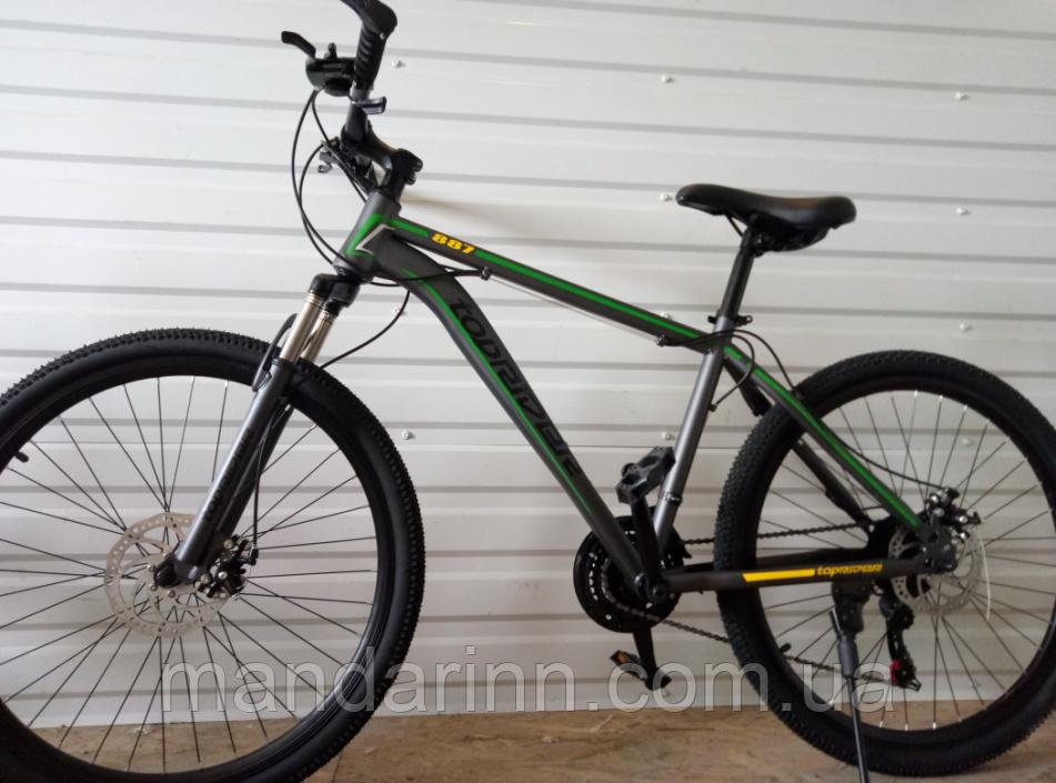 Велосипед спортивний TopRider 887 26 дюймів. Зелений