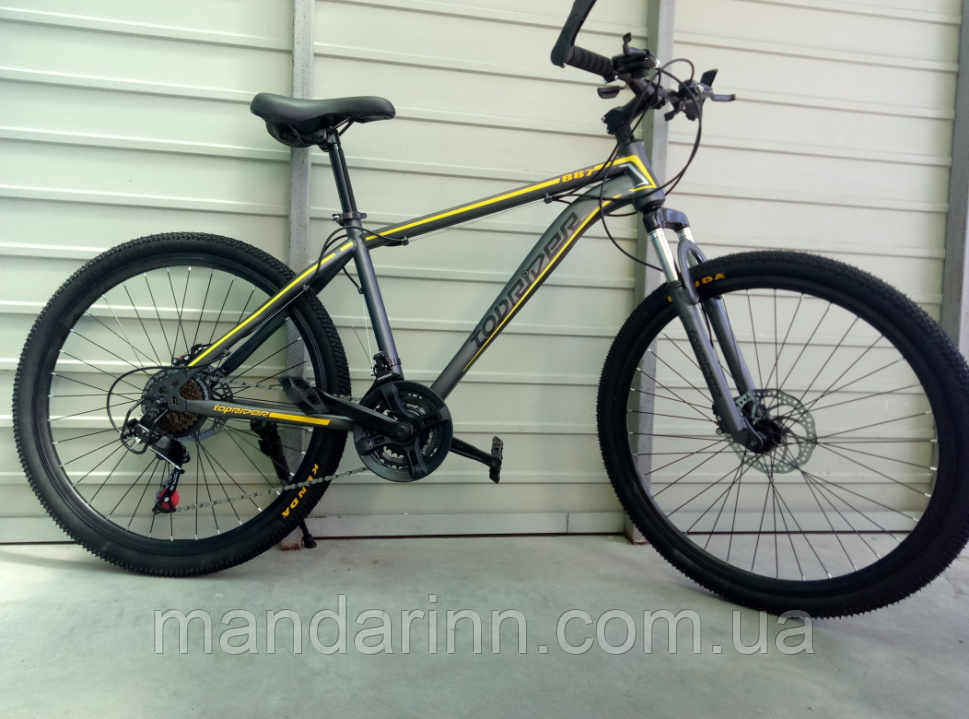 Велосипед спортивный TopRider 887 26 дюймов. Желтый