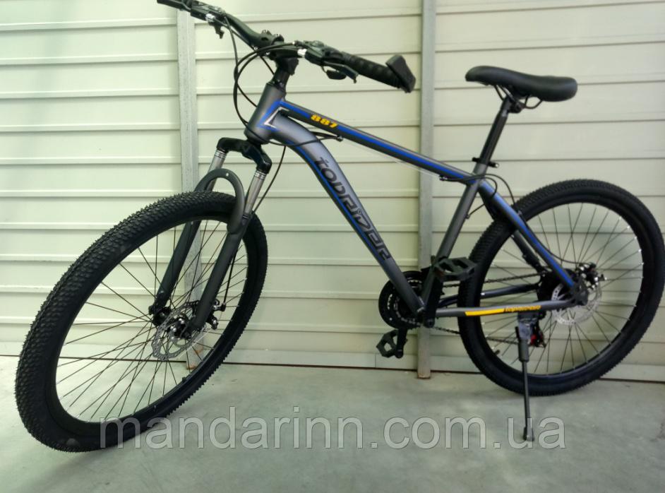 Велосипед спортивний TopRider 887 26 дюймів. Синій