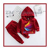 Детские разнообразные велюровые костюмы кофта штаны (под заказ от 50 шт) с НДС, фото 1
