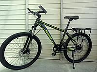 Велосипед спортивный TopRider 700 26 дюймов, одна скорость. Зеленый
