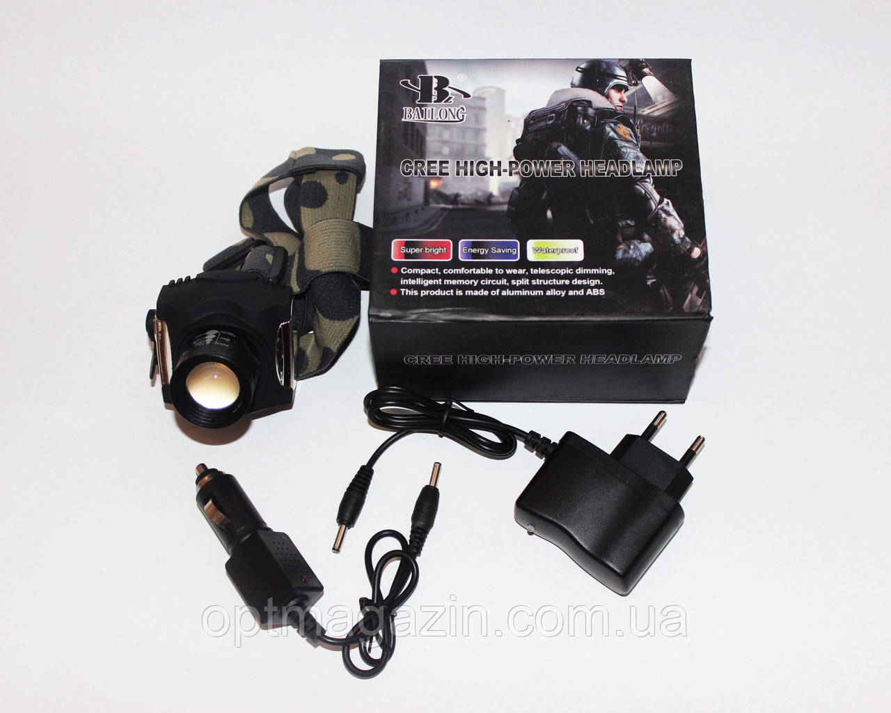 Налобный фонарик Bailong Police BL-6631 8000W