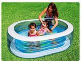 INTEX 57482 детский надувной бассейн Нежность овальный 163х107х46см , фото 2