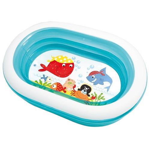 INTEX 57482 детский надувной бассейн Нежность овальный 163х107х46см