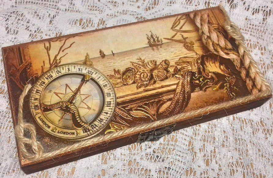 Шкатулка купюрница Пиратский остров