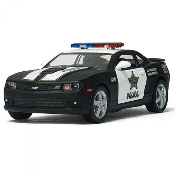 Машинка металева KT5383WP 2014 Chevrolet Camaro Police, в коробці, 16-7-8 см