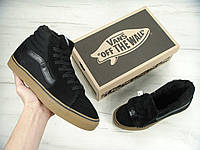 9a89fe37 Кеды Vans SK8 - Hi. Winter Edition Black Gum Black, зимние вансы с мехом