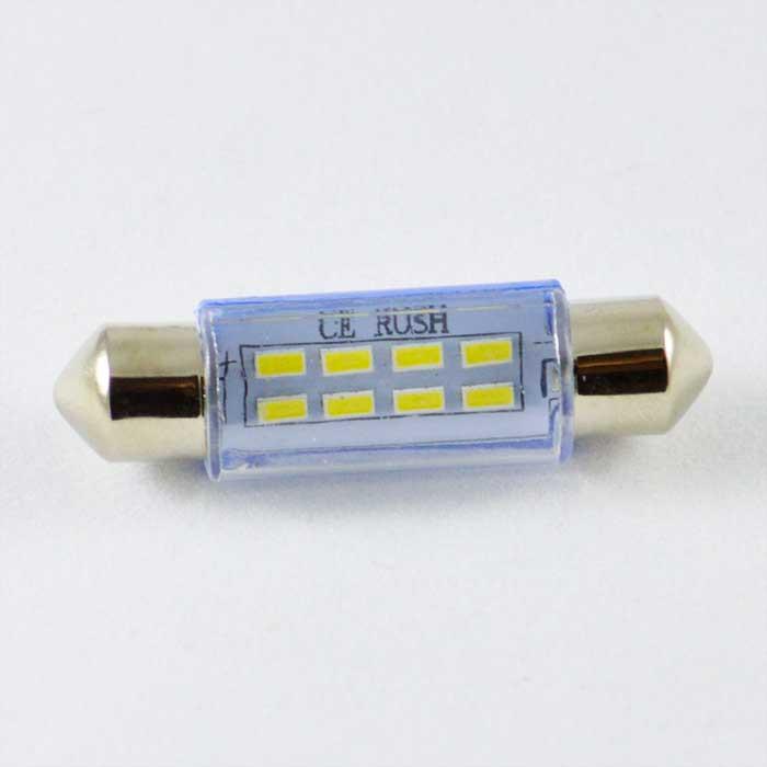 Светодиодная лампа под цоколь SV8,5(C5W)(C10W) 42mm 3014 8 LED Белый