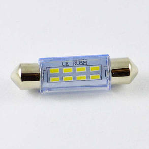 Светодиодная лампа под цоколь SV8,5(C5W)(C10W) 42mm 3014 8 LED Белый, фото 2