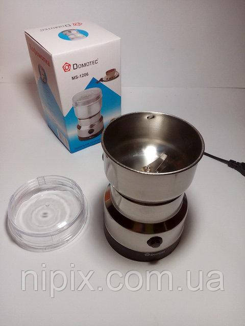 Электрическая мельница, кофемолка Domotec MS-1206