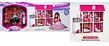 Домик для кукол 66884 два этажа с мебелью и три куклы, фото 5
