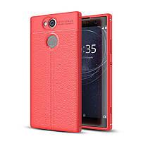 Чехол Sony XA2 / H4113 / H4133 / H3113 / H3123 / H3133 силикон Original Auto Focus Soft Touch красный
