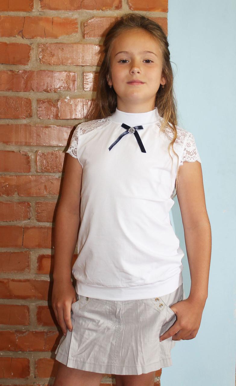Блуза трикотажная для девочки подростка в школу